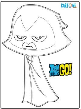 Raven disegni da colorare Teen Titans Go
