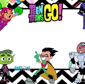 Inviti feste di compleanno Teen Titans Go - Cartoni animati