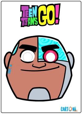 Teen titans Go maschera Cyborg