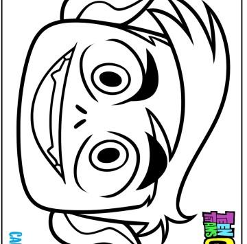 Teen titans Go Maschera Beast Boy da colorare - Cartoni animati