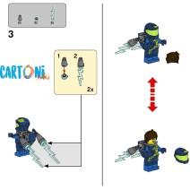 The lego movie 2 - costruzioni istruzioni per montaggio Rex 2 - Istruzioni Lego