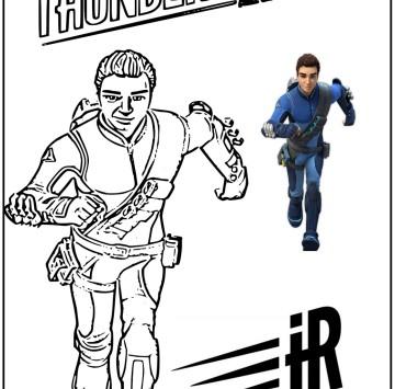 Thunderbirds are go Disegni da colorare - Cartoni animati