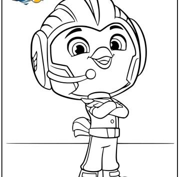 Top Wing disegno Rod da colorare - Cartoni animati