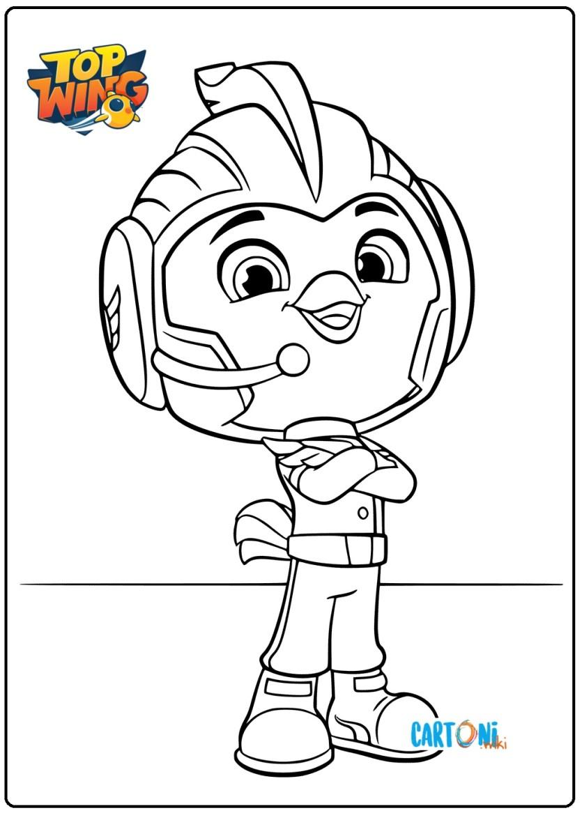 Top Wing Disegno Rod Da Colorare Cartoni Animati