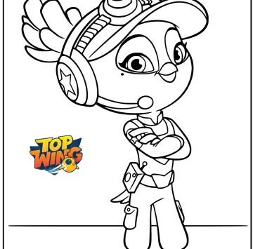 Top Wings Disegno Bea da stampare e colorare - Cartoni animati