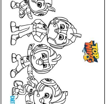Top Wing Disegni da colorare - Cartoni animati