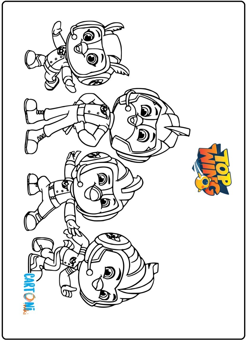 Top Wing Disegni Da Colorare Cartoni Animati