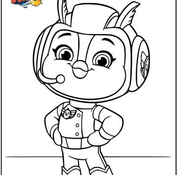 Top Wing Disegni da colorare di Penny - Cartoni animati