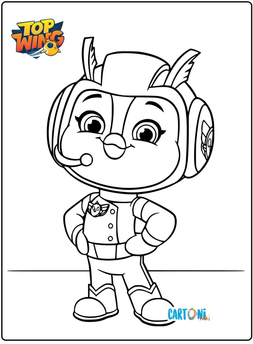 Top Wing Disegni Da Colorare Di Penny Cartoni Animati