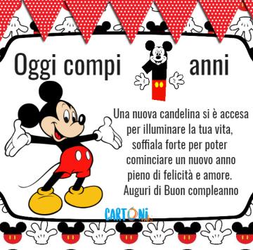 Topolino oggi compi 1 anno - Cartoni animati