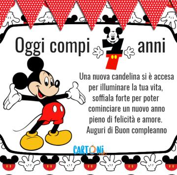 Topolino oggi compi 7 anni - Cartoni animati