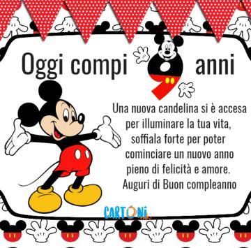 Auguri Di Buon Compleanno 9 Anni.Topolino Oggi Compi 9 Anni Cartoni Animati