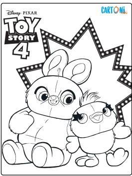 Toy Story 4 disegni da stampare
