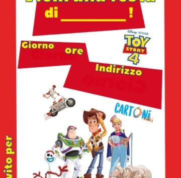 Invito compleanno da stampare con Toy Story 4 - Cartoni animati