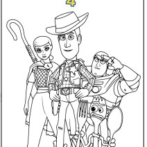 Toy story 4 tutti i personaggi da colorare - Disegni da colorare