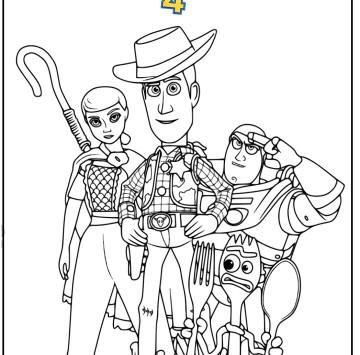 Toy story 4 tutti i personaggi da colorare - Cartoni animati