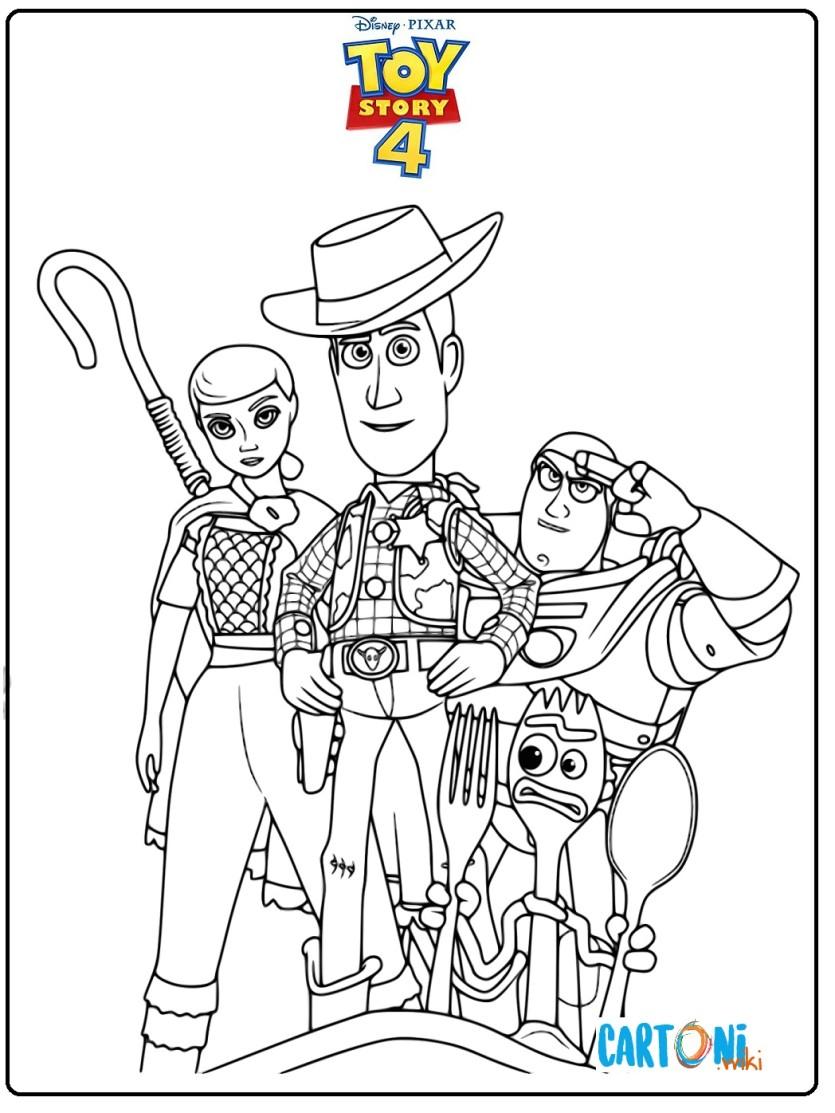 Toy Story 4 Tutti I Personaggi Da Colorare Cartoni Animati