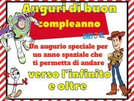 Biglietto di auguri buon compleanno Toy Story 4