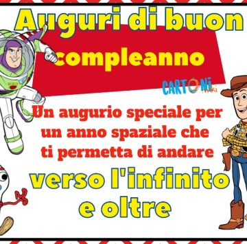 Biglietto di auguri buon compleanno Toy Story 4 - Cartoni animati