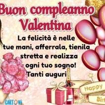 Tanti auguri di buon compleanno Valentina - Valentina