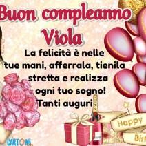 Tanti auguri Viola per il tuo compleanno - Viola