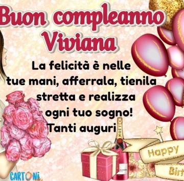 Tanti auguri di buon compleanno Viviana - Cartoni animati