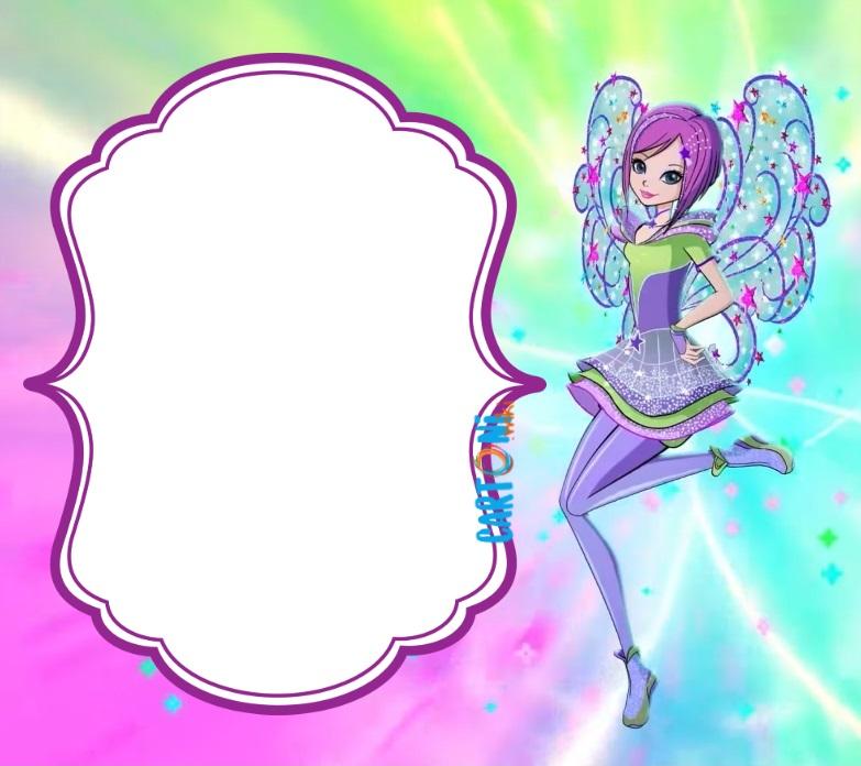 Tecna Winx 8 invito festa di compleanno - Cartoni animati
