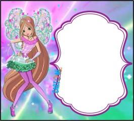 Flora Winx 8 Inviti festa di compleanno