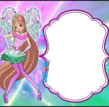 Flora Winx 8 Inviti festa di compleanno  - Cartoni animati