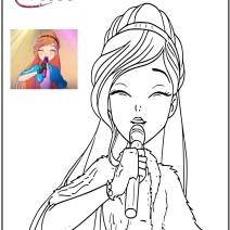 Winx 8 disegni da colorare - Disegni da colorare