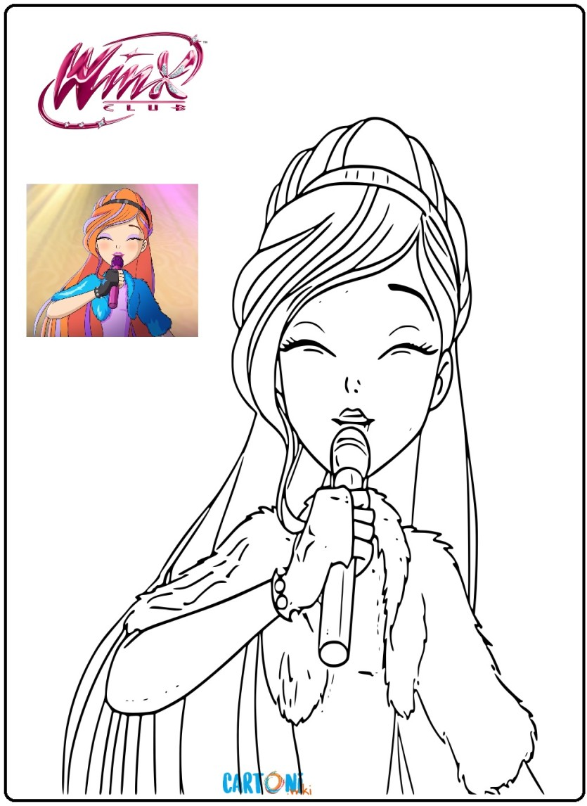 Winx 8 disegni da colorare - Cartoni animati