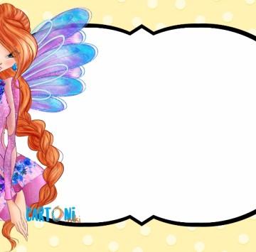 Bloom invito festa di compleanno Winx Club - Cartoni animati