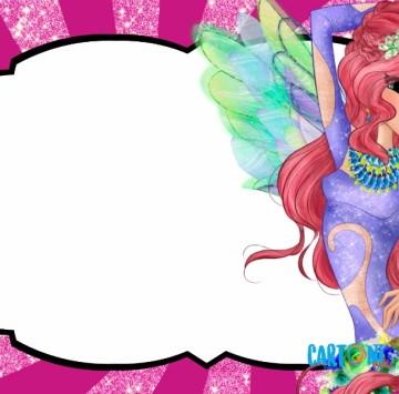 Flora inviti festa compleanno Winx Club - Cartoni animati