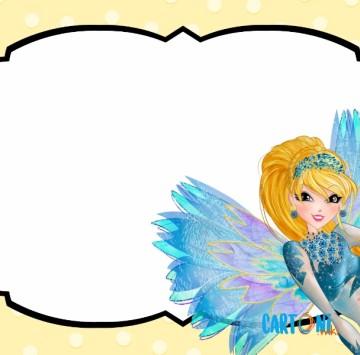 Stella invito festa di compleanno Winx Club - Cartoni animati
