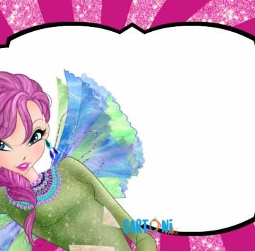 Tecna invito festa compleanno Winx Club - Cartoni animati