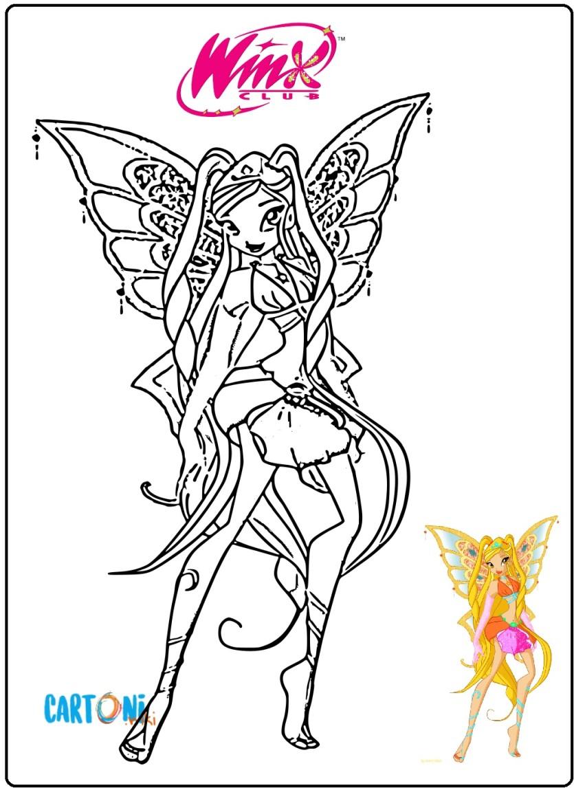 Stella Enchantix Da Stampare E Colorare Cartoni Animati