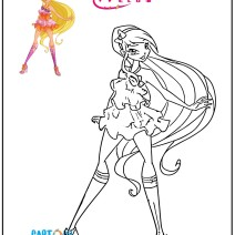 Winx Club Stella da colorare - Stampa e colora