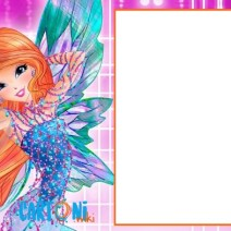 Winx club party invitation - Frame