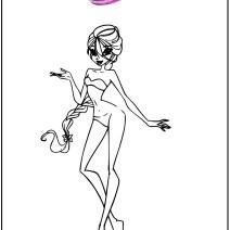 Winx disegno silhouette moda - Stampa e colora