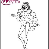 Winx disegnare vestiti e colorare - Stampa e colora