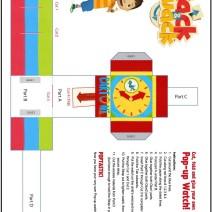 Crea un orologio di carta con Zack e Quack - Attività per bambini