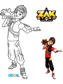 Zak Storm da colorare