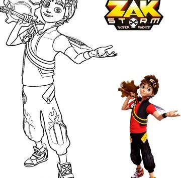 Zak Storm da colorare - Cartoni animati