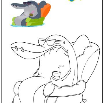 Colora Sharko di Zig & Sharko - Cartoni animati