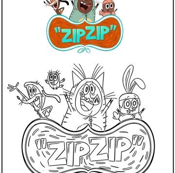Colora Zip Zip - Cartoni animati