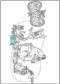 Zip zip disegni da colorare - Disegni da colorare