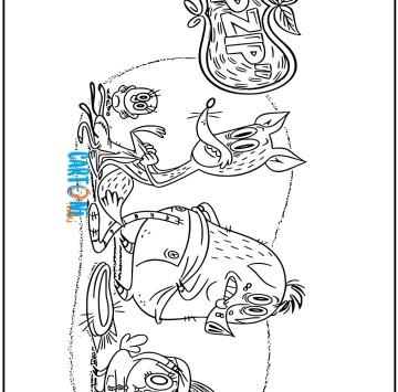 Zip zip disegni da colorare - Cartoni animati