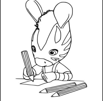 Zou Zebra disegni da colorare - Cartoni animati