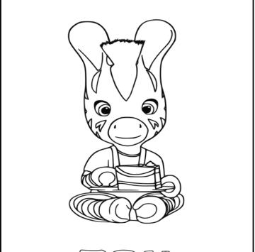 Disegni Zou Zebra Cartoni Animati